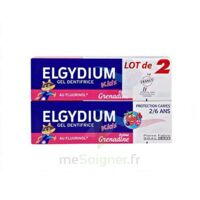 Elgydium Kids Protection Caries Gel Dentifrice Grenadine 2-6ans 2 T/50ml à BRETEUIL