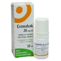 CROMABAK 20 mg/ml, collyre en solution à BRETEUIL