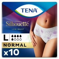 Tena Lady Silhouette Slip Absorbant Blanc Normal Large Paquet/10
